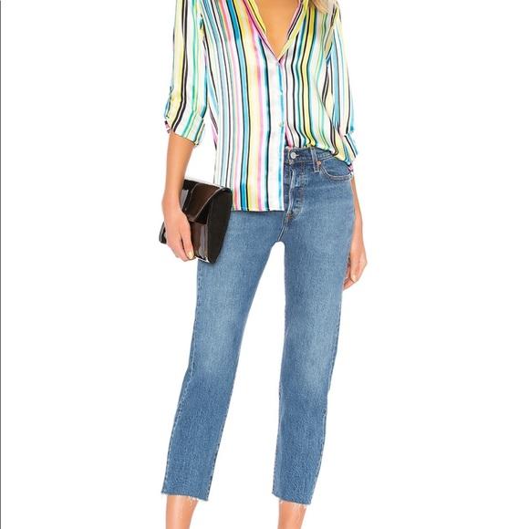 Levi's Denim - Levi's Wedgie fit straight leg cropped jeans